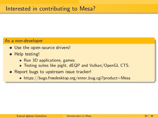 Introduction to Mesa  The Open-Source Graphics API