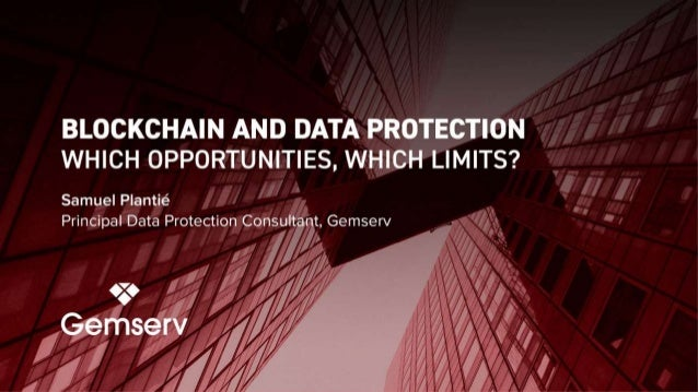 Introduction  Blockchain is a technology that can be used for a processing activity (recording and securing data, and aut...