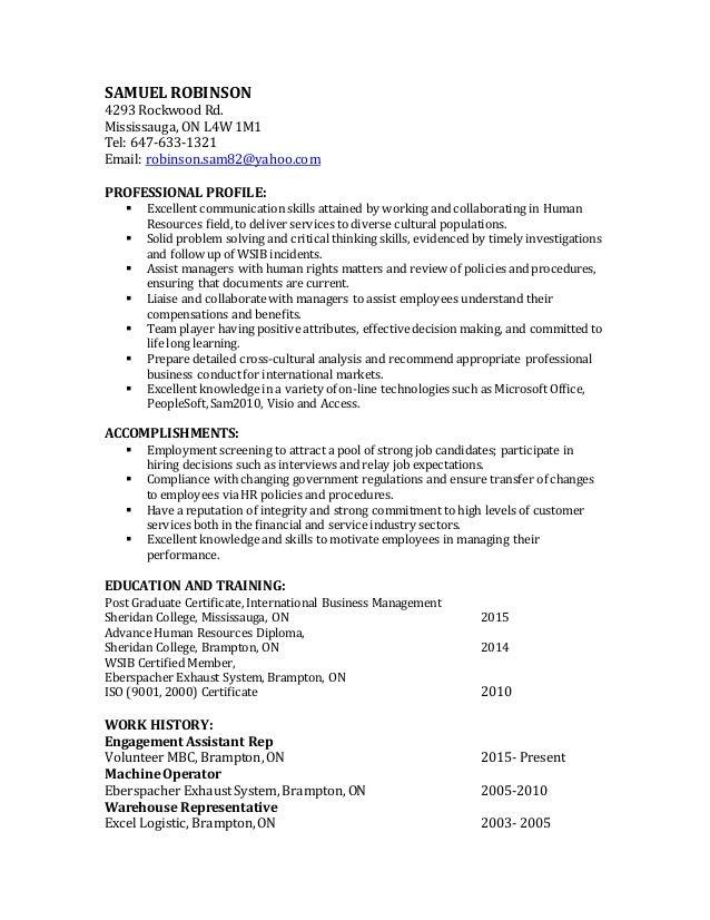 Samuel robinson resume