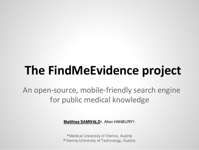 open source template engine - the findmeevidence project an open source mobile