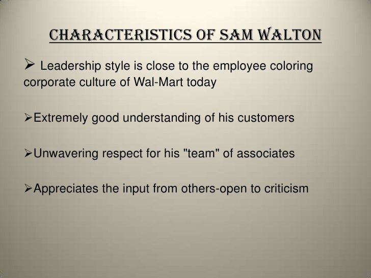 walmart leadership essay Key success factors at walmart  product quality and trend leadership to create better customer  sign up to view the whole essay and download the pdf for.