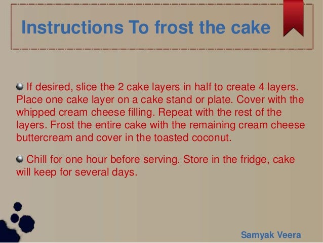 Golden Gate Cake Recipe