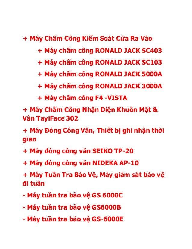 + Máy Chấm Công Kiểm Soát Cửa Ra Vào + Máy chấm công RONALD JACK SC403 + Máy chấm công RONALD JACK SC103 + Máy chấm công R...