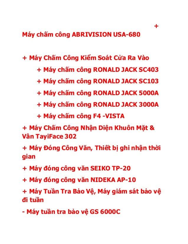 + Máy chấm công ABRIVISION USA-680 + Máy Chấm Công Kiểm Soát Cửa Ra Vào + Máy chấm công RONALD JACK SC403 + Máy chấm công ...
