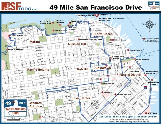 San Franciscos 49 Mile Drive Map