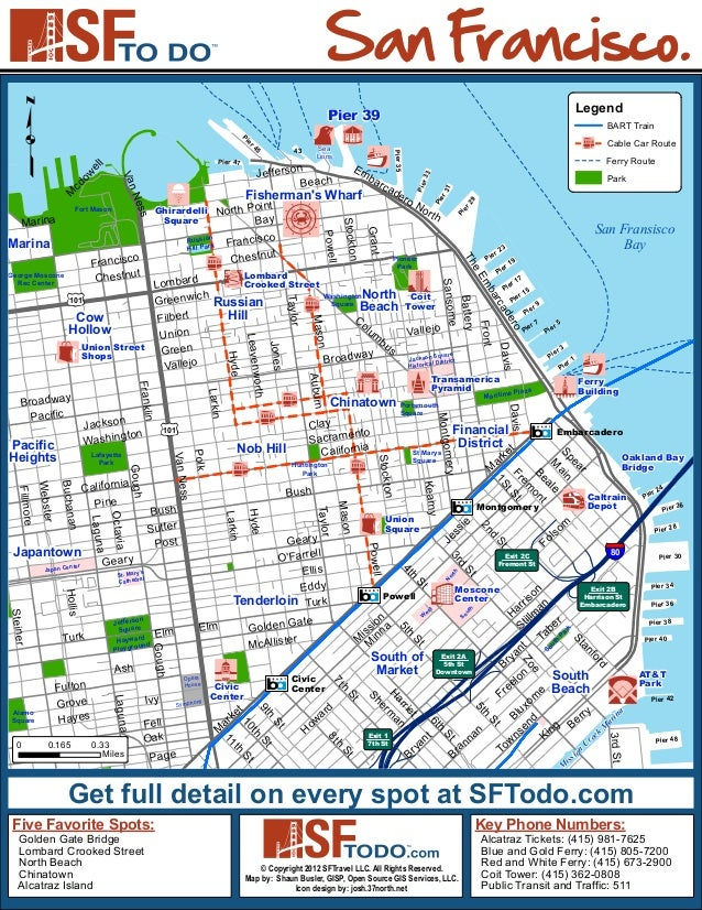 San Francisco Tourist Map  Tourism Guide
