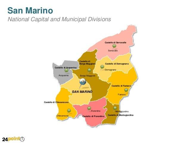 San Marino Map PowerPoint Slides - San marino map download