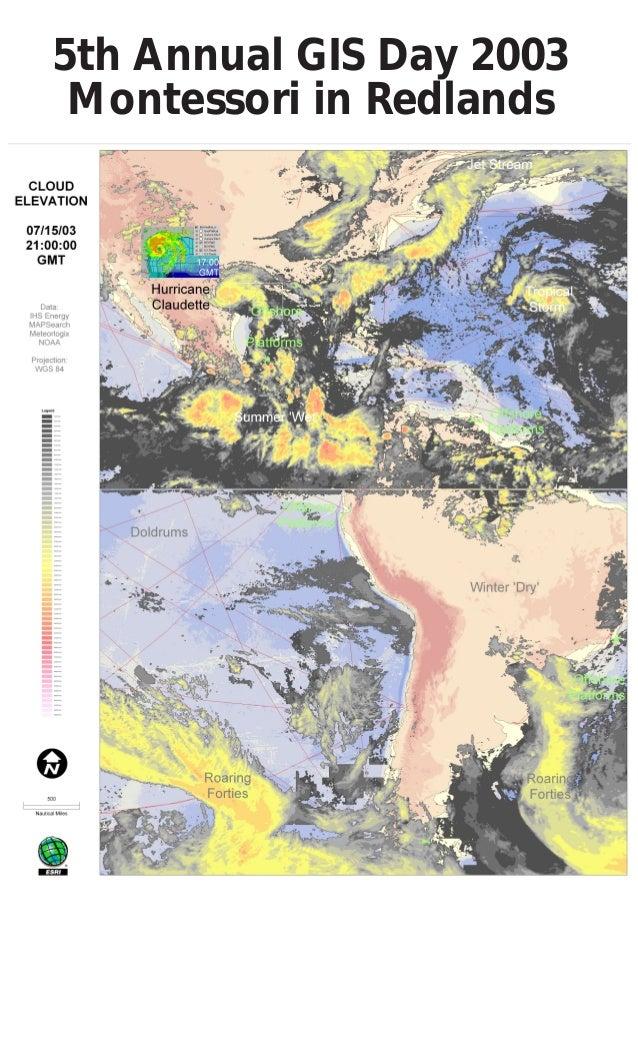 5th Annual GIS Day 2003 Montessori in Redlands