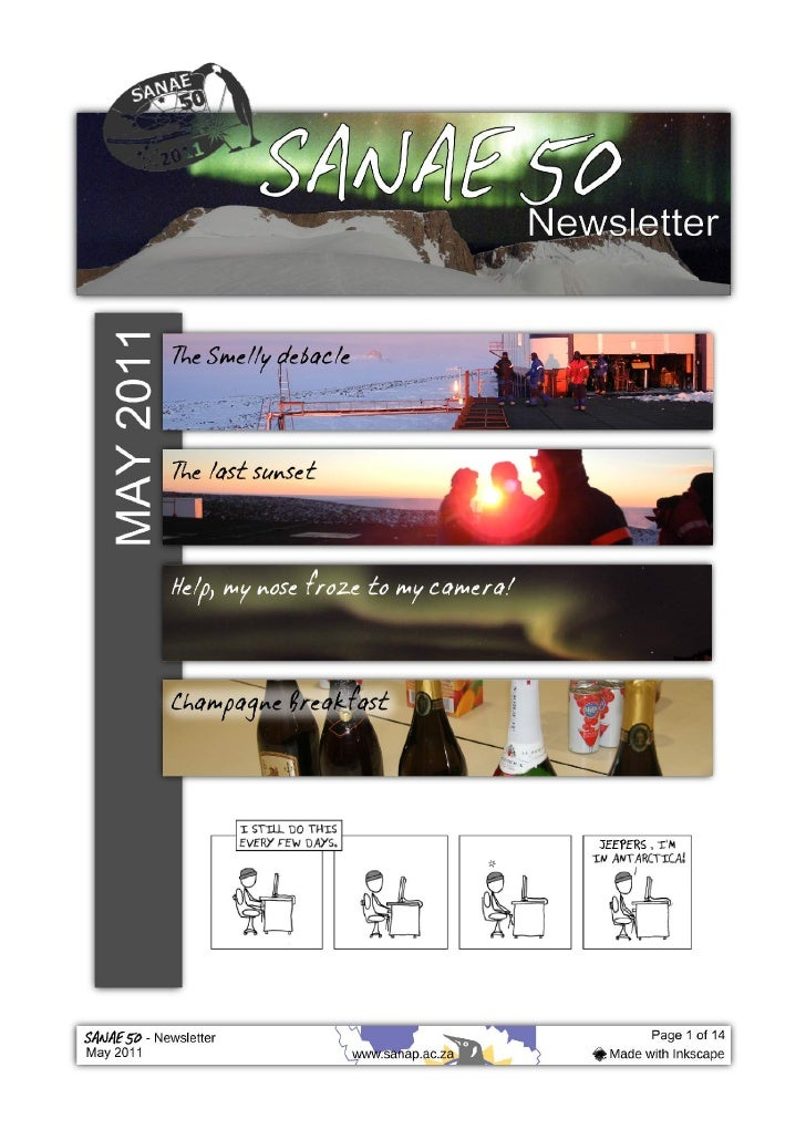 Sanae 50 may newsletter