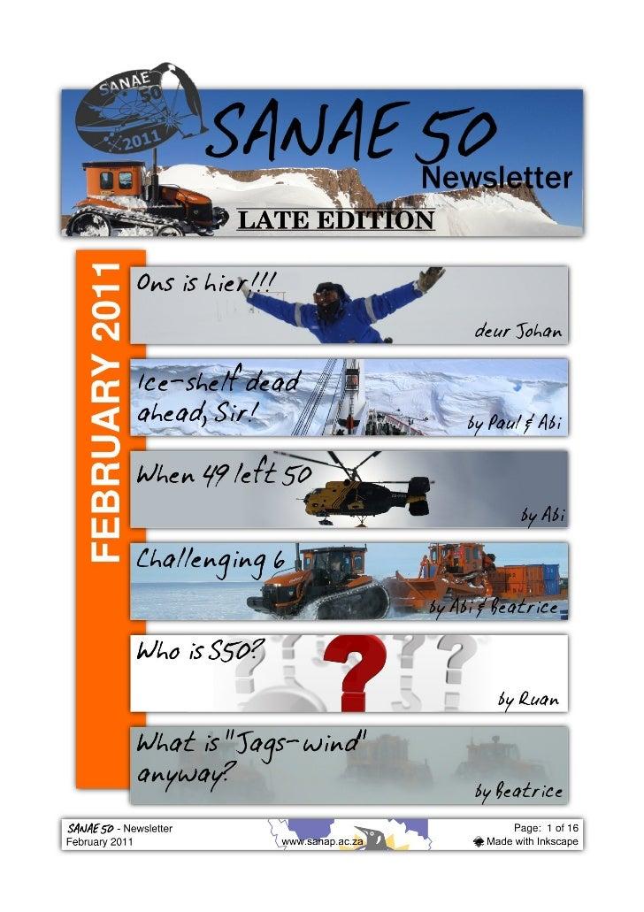 Sanae50 newsletter feb2011
