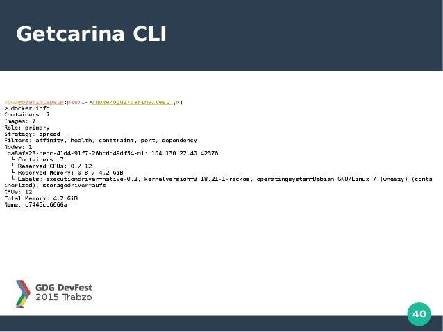 40 Getcarina CLI