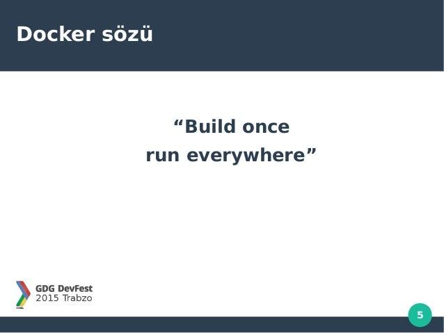 "5 Docker sözü ""Build once run everywhere"""