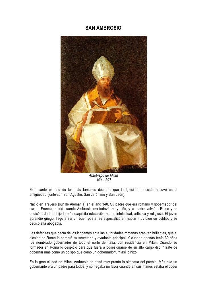 SAN AMBROSIO                                             Arzobispo de Milán                                             34...