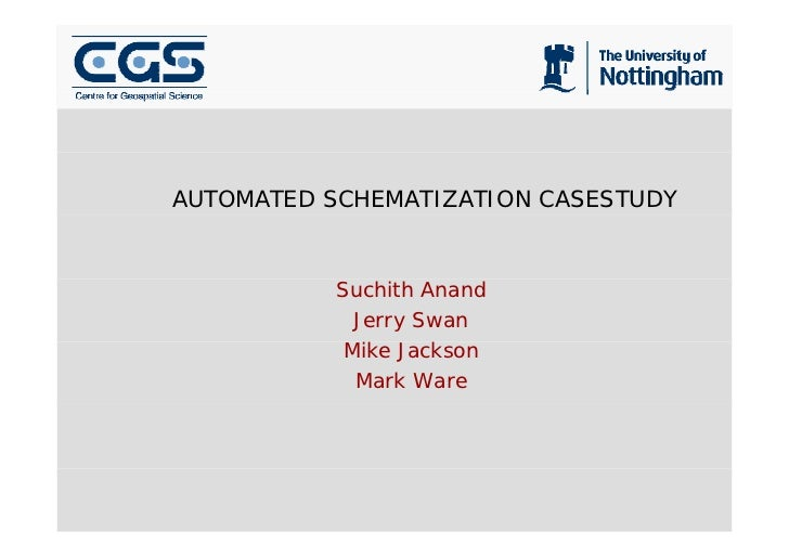AUTOMATED SCHEMATIZATION CASESTUDY               Suchith Anand              Jerry Swan             Mike Jackson           ...