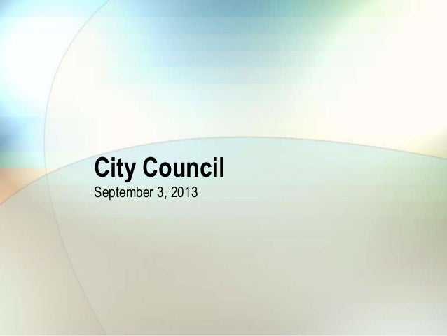 City Council September 3, 2013