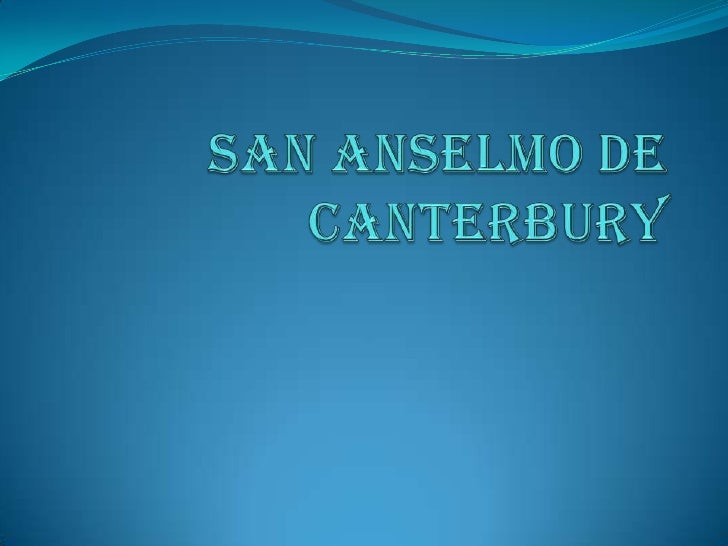 San Anselmo de Canterbury<br />
