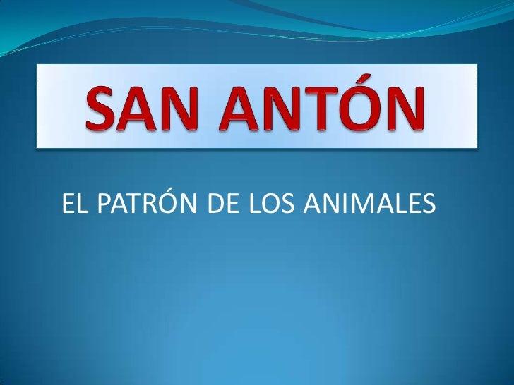 EL PATRÓN DE LOS ANIMALES