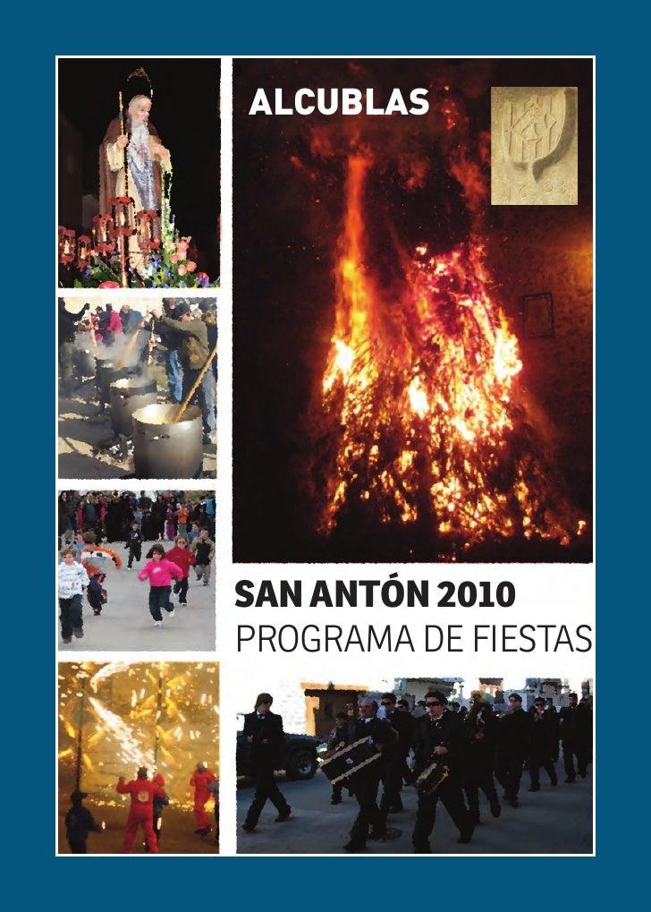 ALCUBLAS     SAN ANTÓN 2010 PROGRAMA DE FIESTAS