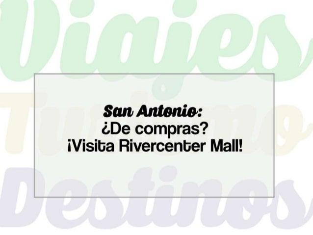 Miles de viajeros al año visitan San Antonio por diferentes motivos: visitar a un conocido, reuniones de trabajo, paseo tu...