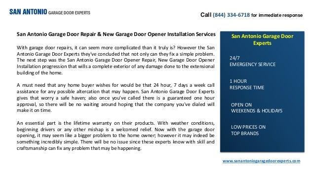 San Antonio Garage Door Repair Amp New Garage Door Opener