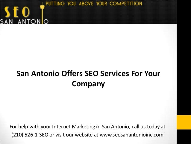 For help with your Internet Marketing in San Antonio, call us today at (210) 526-1-SEO or visit our website at www.seosana...