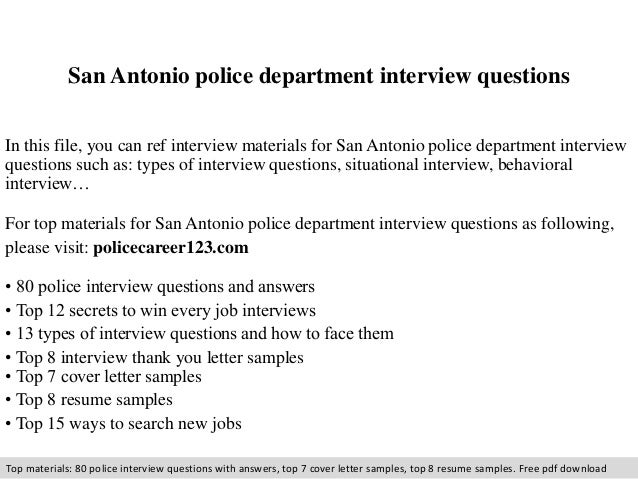 Attractive San Antonio Police Department Interview Questions In This File, You Can Ref  Interview Materials For ...