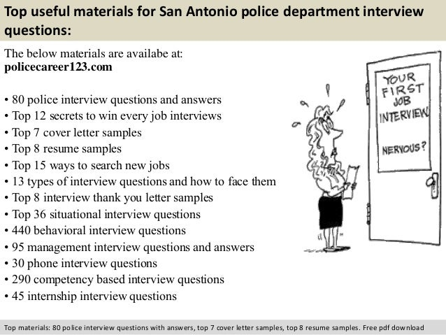 San antonio police department interview questions