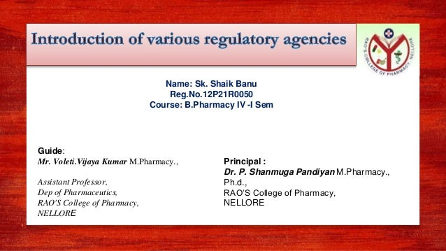 Name: Sk. Shaik Banu Reg.No.12P21R0050 Course: B.Pharmacy IV -I Sem Guide: Mr. Voleti.Vijaya Kumar M.Pharmacy., Assistant ...