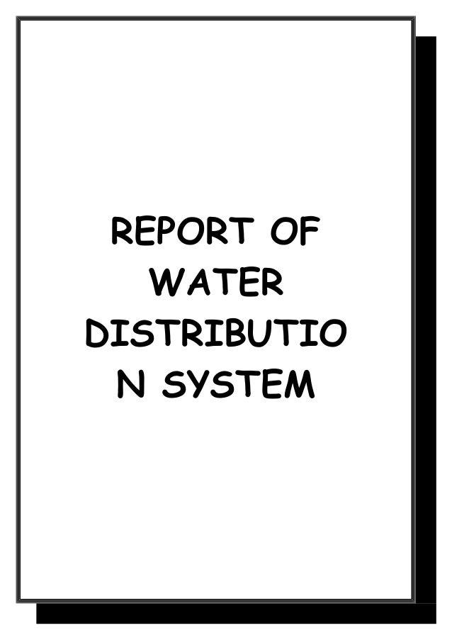 REPORT OF   WATERDISTRIBUTIO N SYSTEM