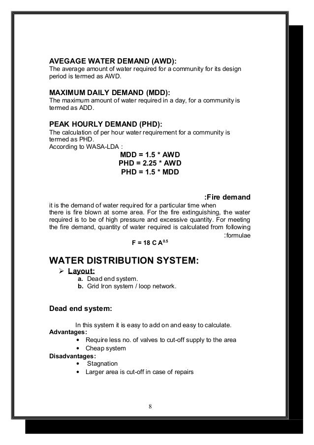 WATER DISTRIBUTION SYSTEM DESIGN REPORT UET LAHORE by envian