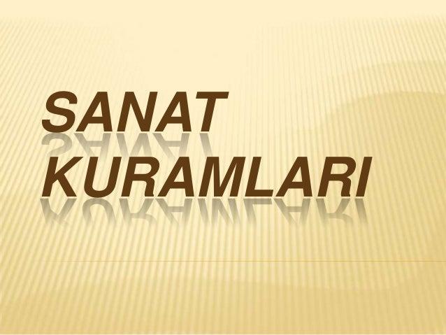 SANATKURAMLARI