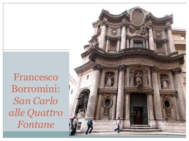 Francesco Borromini: San Carlo alle Quattro Fontane