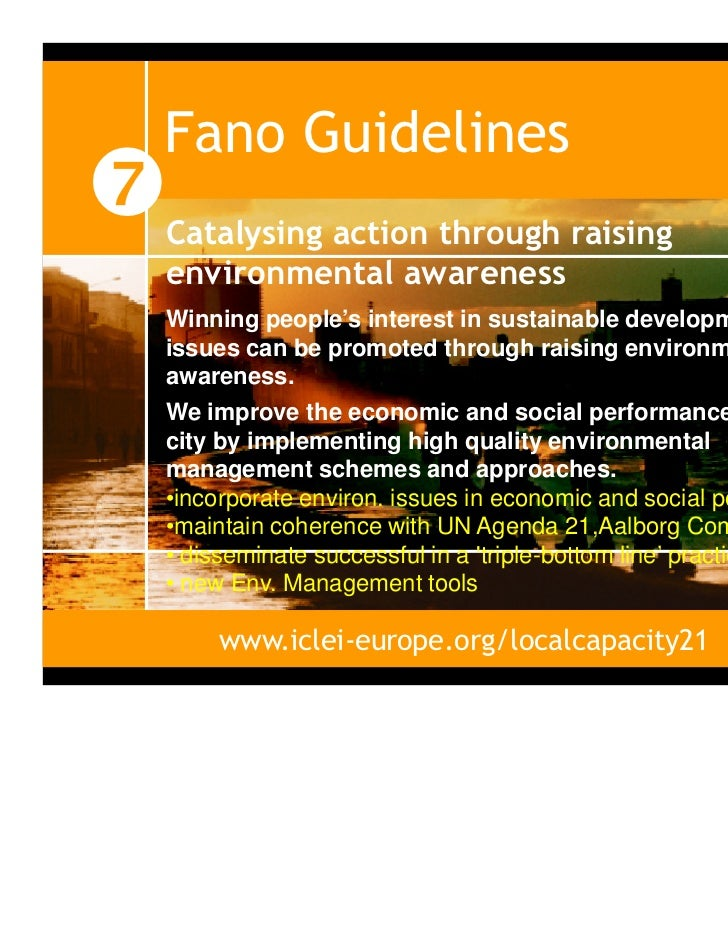 local agenda 21 guidelines The concept of local agenda 21 was first introduced in 1987 at a meeting of world leaders in norway during that meeting the participants agreed that.