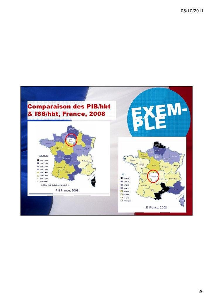 05/10/2011Comparaison des PIB/hbt& ISS/hbt, France, 2008       PIB France, 2008                          ISS France, 2008 ...