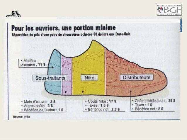 cout de production chaussure nike