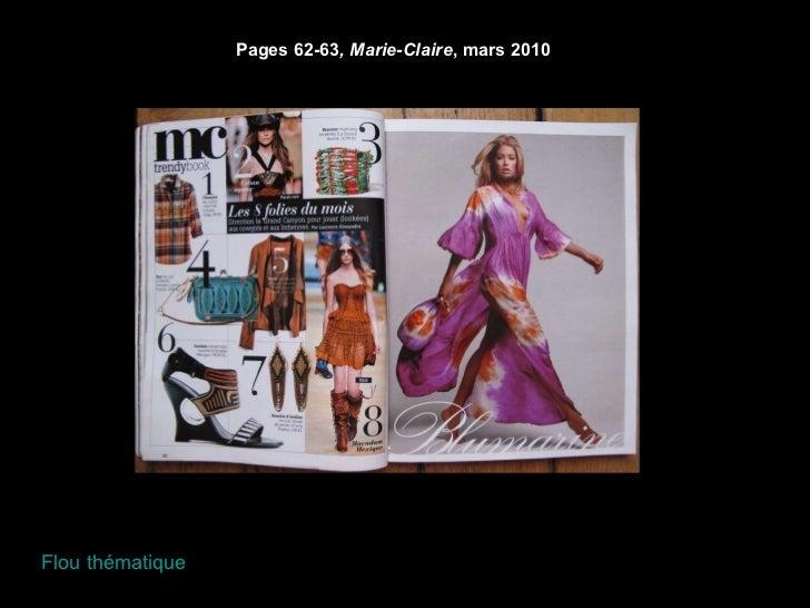Pages 62-63 , Marie-Claire , mars 2010 Flou thématique