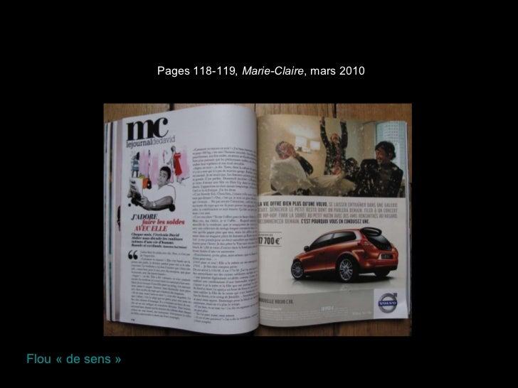 Pages 118-119,  Marie-Claire , mars 2010 Flou «de sens»