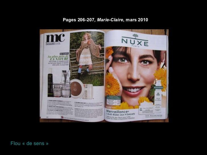Pages 206-207 , Marie-Claire , mars 2010  Flou «de sens»
