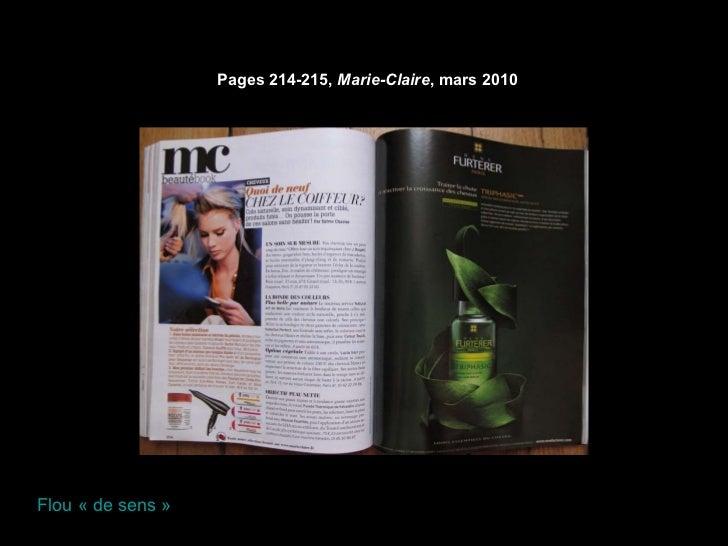 Pages 214-215,  Marie-Claire , mars 2010   Flou «de sens»