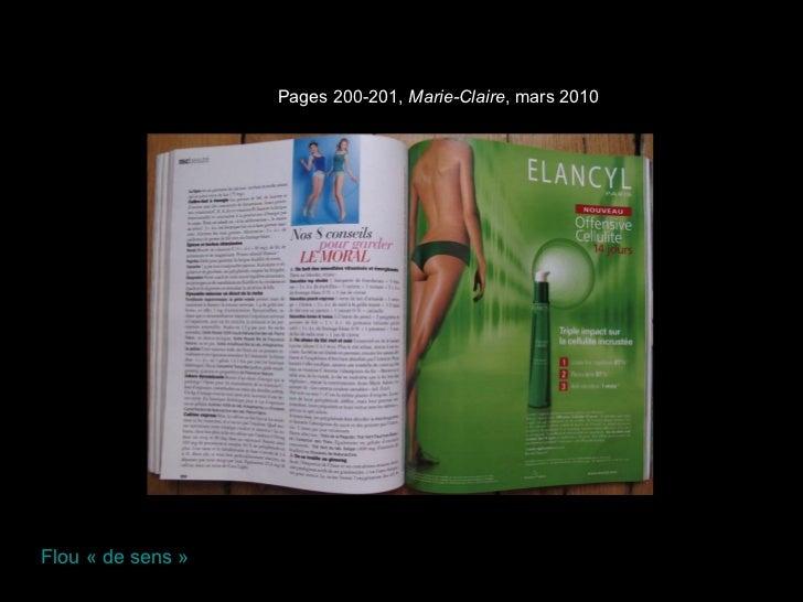 Pages 200-201,  Marie-Claire , mars 2010 Flou «de sens»