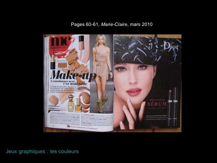 Pages 60-61 , Marie-Claire , mars 2010 Jeux graphiques : les couleurs