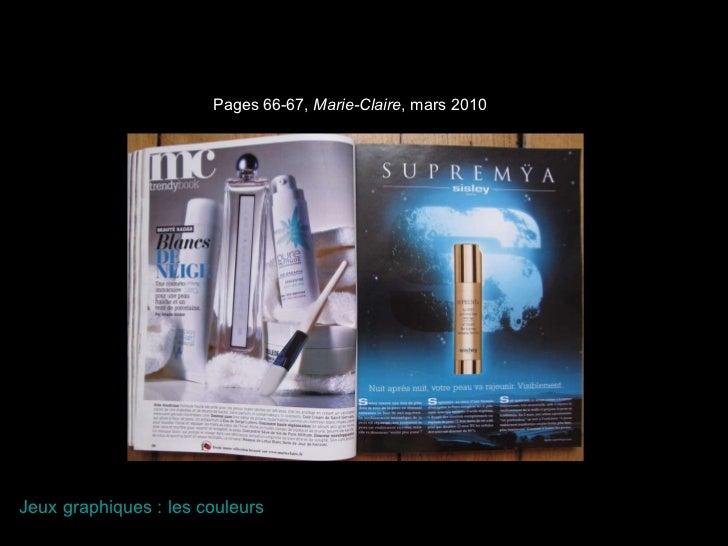 Pages 66-67,  Marie-Claire , mars 2010 Jeux graphiques : les couleurs