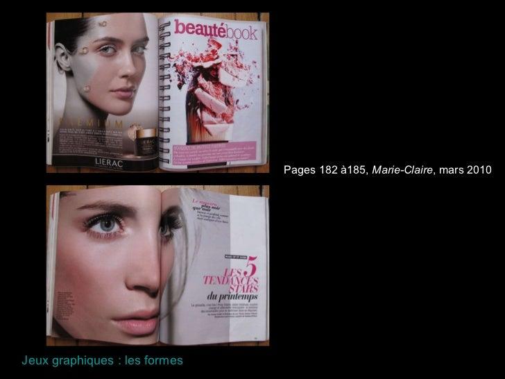 Pages 182 à185,  Marie-Claire , mars 2010 Jeux graphiques : les formes