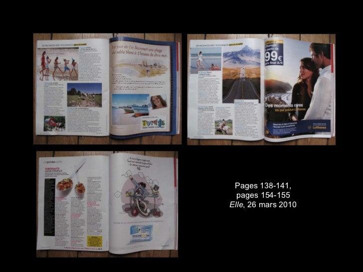 Pages 138-141, pages 154-155 Elle , 26 mars 2010