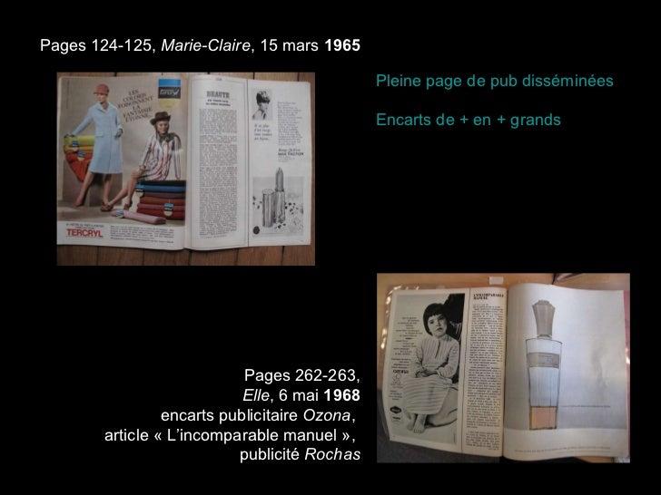 Pages 262-263, Elle , 6 mai  1968 encarts publicitaire  Ozona ,  article «L'incomparable manuel»,  publicité  Rochas Pag...