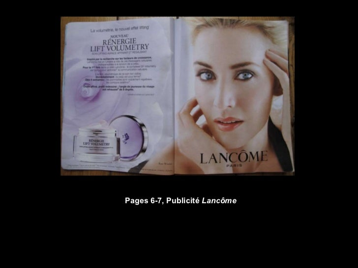 Pages 6-7, Publicité  Lancôme