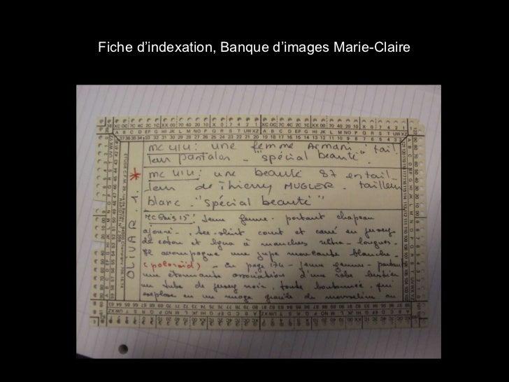 Fiche d'indexation, Banque d'images Marie-Claire