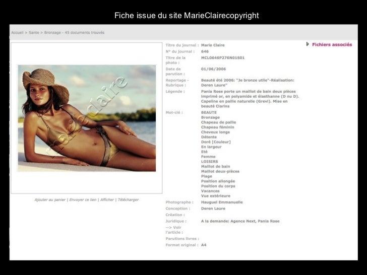 Fiche issue du site MarieClairecopyright