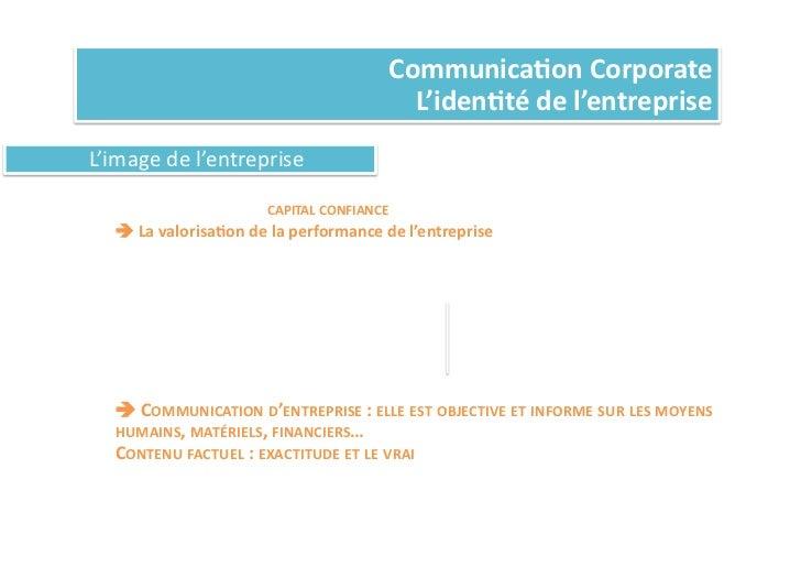 Communica%on Corporate                                                                       L'iden%té de l'entrep...