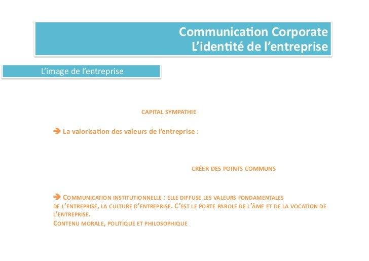 Communica%on Corporate                                                                           L'iden%té de l'en...